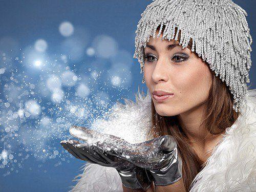 Для зимнего макияжа используйте только водостойкие средства