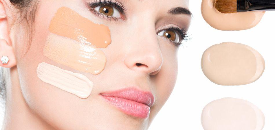 Тональный крем и пудра для зимнего макияжа